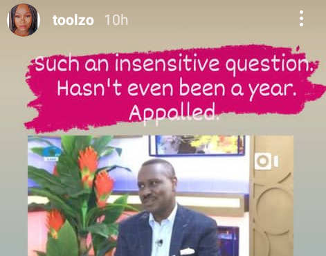 """""""Such an insensitive question"""" - OAP Toolz reacts to Pastor Ituah Ighodalo"""